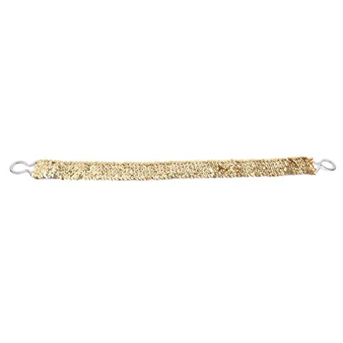 Gold Belt Buckle Bling (EH-LIFE Women Waistband Lady Glitter Elastic Buckle Girdle Belt Sequins Shining Bling Clothes Dress Decoration Accessories Gold)