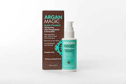 ARGAN MAGIC - Blow Straight Temporary Hair Straightener & Smoother (2 Ounce/59 Milliliter) by Argan Magic