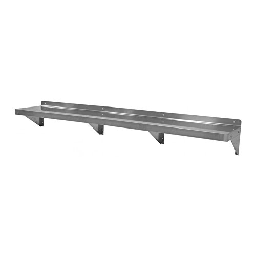 GSW Stainless Steel Commercial Wall Mount Shelf 14''(Depth) x 72''(Width) NSF Approved