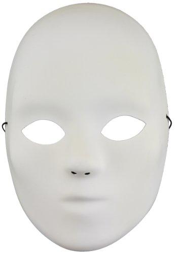 Mask It 91100 8-1/2-Inch Full Mask Embellishment, (Porcelain Mask)