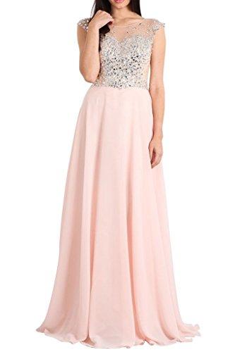 2b5294ba4b0aac Charmant Damen Modern Rosa Steine Hundkragen Aermellos Abendkleider  Ballkleider Partykleider Promkleider Lang