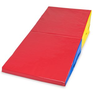 Medium Folding Incline Cheese Wedge Mat 59.25″ x 29.5″ x 14.75″, Gymnastics & Tumbling Training Equipment