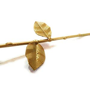 """♥ Eternal Rose Hand-Forged Wrought Iron Golden""""Ideal gift for Valentine's Day, Girlfriend, Mother's Day, Couple, Birthday, Christmas, Wedding, Anniversary, Decor, Indoor"""" 4"""