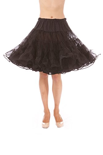 - Madeline Knee Length Petticoat - Very Full Skirted Dance Petticoat for Serious Skirt Volume Vintage Clothing and Rockabilly Black