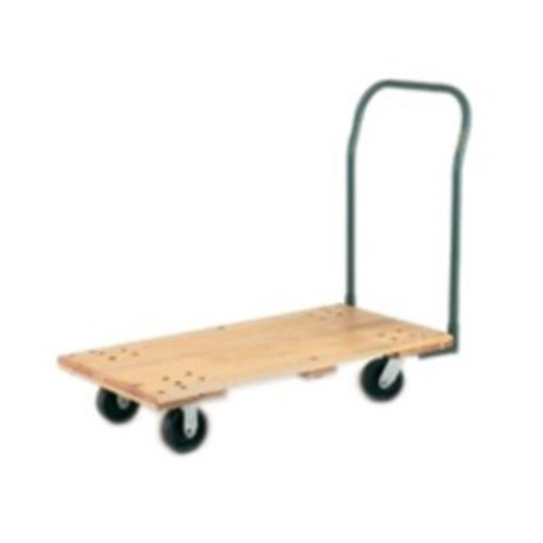 (Harper Trucks WD2448P6 Wood Deck Platform Truck with 24-Inch by 48-Inch Deck and 6-Inch Poly Casters)