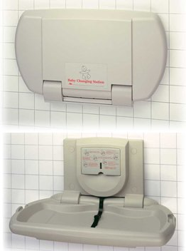 Horizontal Changing Table - ASI 9012 Surface Mounted Baby Changing Station