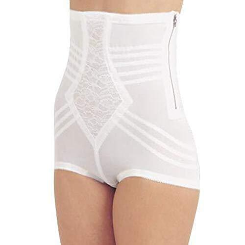 High Panties Brief Rago Waist (Rago Style 6101 - High Waist Firm Shaping Panty, L/30 White)