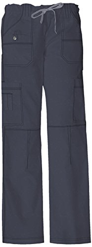 Dickies Women's GenFlex Cargo Scrubs Pant, Lt. Pewter, X-Large
