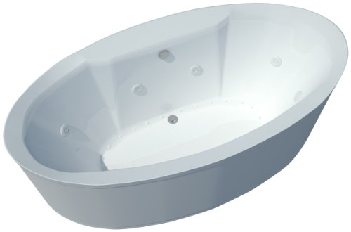 Sea Spa Tubs S3468SD Tubs Suisse 34 by 68 by 23-Inch Rectangular Air and Whirlpool Water Jetted Bathtub, White (Jetted Spa Bathtub)