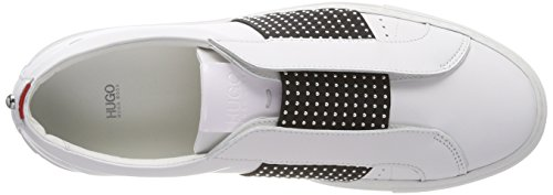 Hugo Low para Blanco Zapatillas Mujer Uptown St 100 White sin Cordones Cut 4rqrw50B