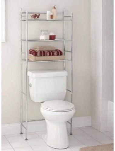Amazon Com Mainstays 3 Shelf Bathroom Space Saver Chrome Finish Home Improvement