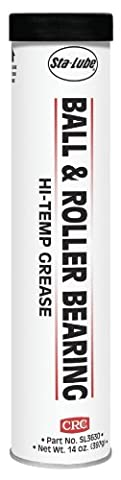 CRC SL3630 Ball & Roller Bearing Hi-Temp Industrial Grease, 14 Ounce, Dark Gray Semi-Solid to Solid - Base Semi Solid Oil