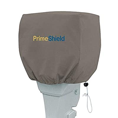 PrimeShield Heavy Duty Outboard Motor Cover 600D Waterproof Motor Hood Cover