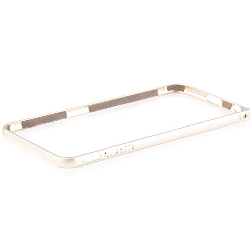 Wood Aluminum Metal Bumper Frame Case For iPhone 6s plus (Gold) - 4