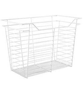 Hafele Closet Wire Drawer Basket 23 x 17 x 14 White