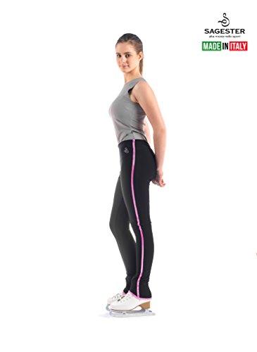 4b0637c576 Sagester # 424 / Italy Hand-Made/Pants Figure Skating/Sz: S, Fuchsia Edges