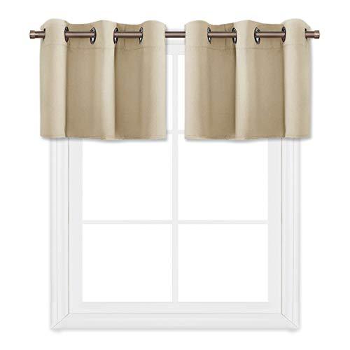 Beige Window Curtain - PONY DANCE Beige Window Curtain Valances 18