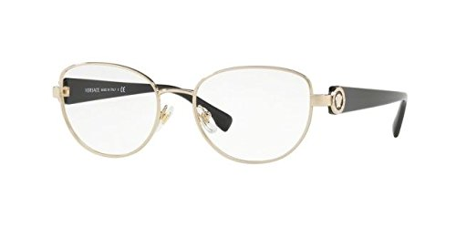 Versace VE1246B Eyeglass Frames 1332-52 - Pale Gold - Eyeglasses Mens Versace