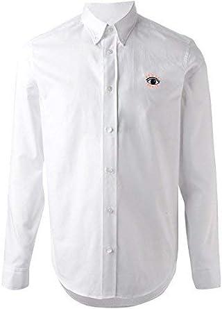 Kenzo Hombre Ojos con Botones Camisa 100% Algodón Blanco Talla 42/16.5 - XL Nuevo con Etiqueta - Blanco, Extra Grande: Amazon.es: Ropa y accesorios