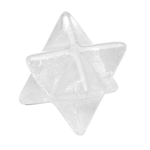 Crytsals Star - QGEM Clear Quartz Merkaba Star - Sacred Geometry Aura Platonic Healing Genuine Crystal Metaphysical w/Box Gift (Clear Quartz)