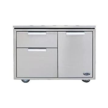 dcs cad36 36inch grill cart brushed stainless steel