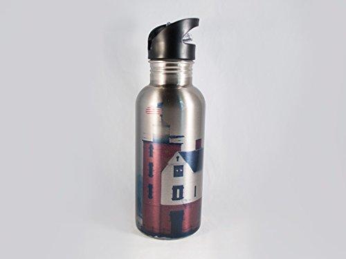 Round Island Michigan Lighthouse Stainless Steel Water Bottle and (Round Island Lighthouse)