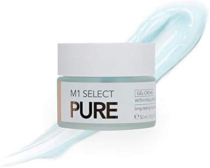 M1 Select - Crema de ácido hialurónico ligera, con péptidos y extracto de algas, 50 ml
