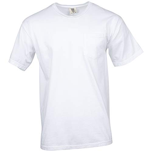 - Comfort Colors Men's Adult Short Sleeve Pocket Tee, Style 6030, White, 3X-Large