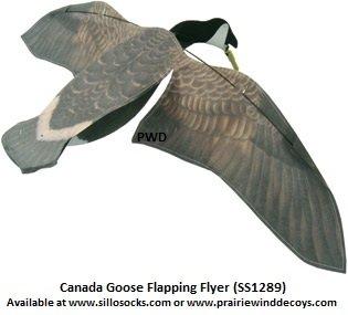 Sillosocks Flapping Canada Snow Goose Decoy, (Snow Goose Bird)