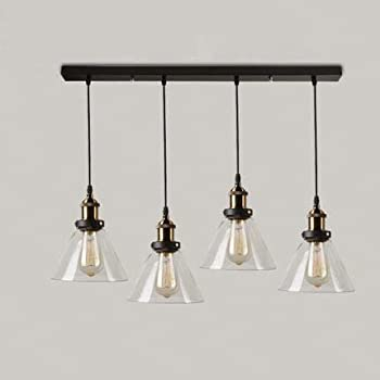 Industrial Retro Country Style Clear Glass Island Chandelier