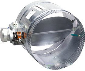 24vac Damper Normally Closed - Suncourt ZC106 6 in. Automated Damper Normally Closed