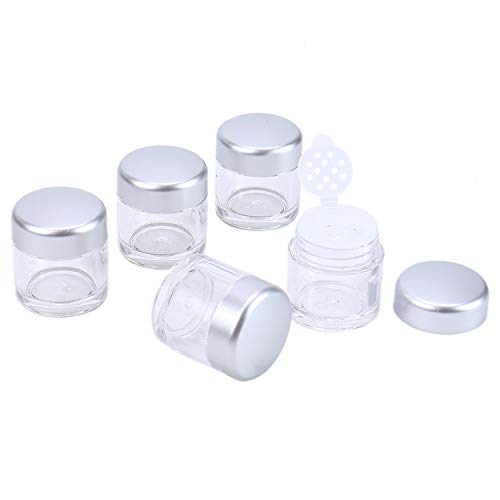 Monrocco 10 Pcs Plastic Empty Powder Puff Case Face Powder Case, Cosmetic Makeup Containers with Sifter and Lids