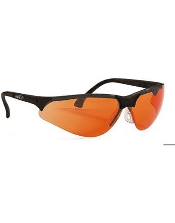 Schutzbrille orange Laborbrille Besucherbrille Kratzfest Augenschutz UV400 EN166