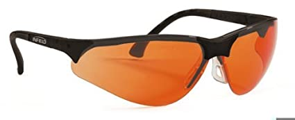 Infield Terminator - Gafas protectoras, UV 400, color naranja