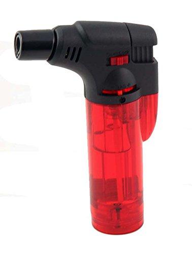 Red Butane Lighter - GStar® TorchZilla Series Windproof Jet Flames Butane Torch Lighter Red