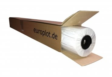 (0,93€/m²) Plotterpapier ungestrichen, 1 Rolle | 80g/m², 330mm b, 50m l 1 Rolle | 80g/m² Europlot