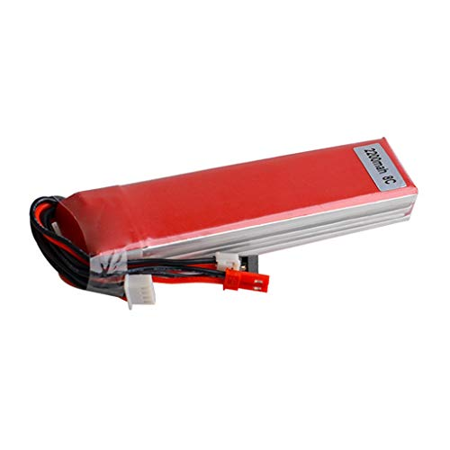 YUNIAO Drone Helicopter Replacement Battery,11.1V 2200MAH Lipo Battery for Radio-Link AT9 AT10 T8FB Devo7 WFLY Transmitter