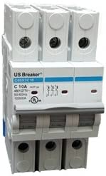 US Breaker 3P 20A UL489 DIN Rail Circuit Breaker 10KA 480 277V
