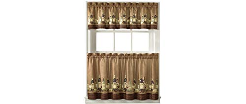 (36-inch Length Wines Tailored Tier Curtain And Valance Set By Chf Industries)