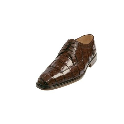 Belvedere Men's Susa Exotic Shoes,Brown Crocodile,10 M US