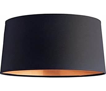 Onepre Drum Large Lampshade Black And Copper Color Lamp