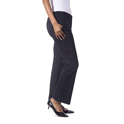 Fundamental Things Women's Bootcut Trouser with Tummy Control; Super Stretch Pant with Zipper, Black, Size ()