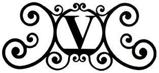 24 Inch House Plaque Letter V from Village Wrought Iron