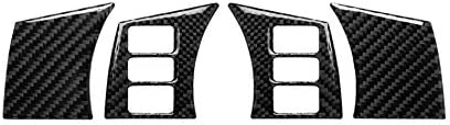 HXD Carbon Fiber Frame Trim Cover Case Cap for Nissan 350Z 2003-2008 (Steering Wheel Control Switch Audio Cruise Button)