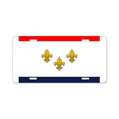 - CafePress - Flag of New Orleans Aluminum License Plate - Aluminum License Plate, Front License Plate, Vanity Tag