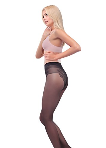 Conte Bikini Top-quality Women's Silky Pantyhose - Large, Natural