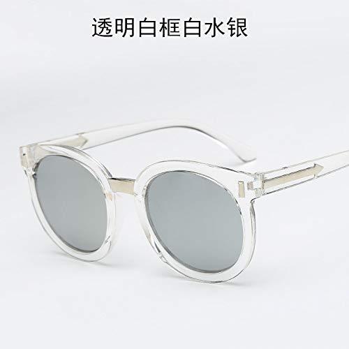 Soleil white Soleil Burenqiq Unisexe frame Mode mercury Lunettes white Lunettes de Dames de Transparent vwAUEaxAq