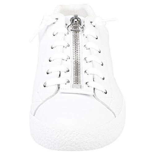 Nilo Pelle Scarpe Ash In Uomo Sneaker Bianco 8Z5x14