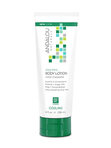 Andalou Naturals Aloe Mint Cooling Body Lotion, 8 Ounce