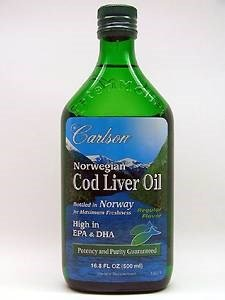 Carlson Norwegian Cod Liver Oil Natural, 500ml